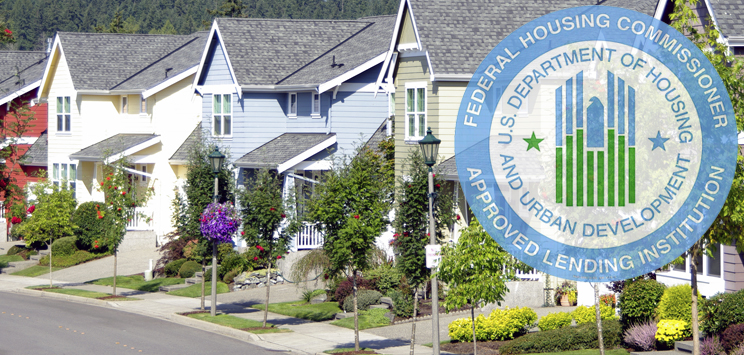 Neighborhood with approved federal housing commissioner badge