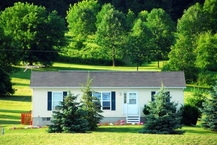 manufactured home in a country setting